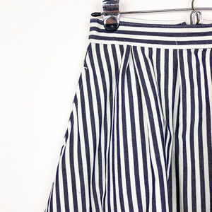 life in progress Skirts - Life in Progress Blue + White Striped A-Line Skirt